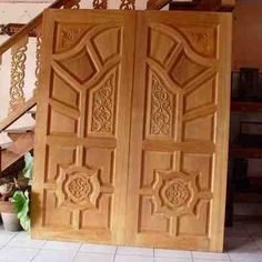 Diyar solid wood double door hpd506 main doors al for 15 panel solid wood door