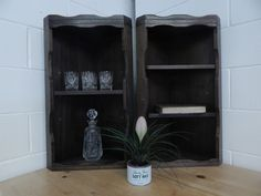2 X Handmade Solid Oak Corner Shelving Units *local Delivery Available