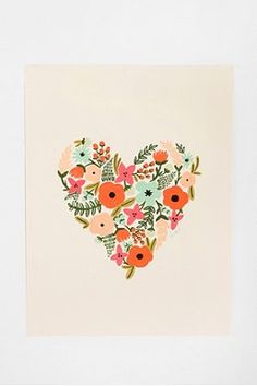 rifle paper co. floral heart print.