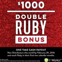 Whatttttt!!! This is amazing!!! You can join my team as a distributor and be eligible to earn the DOUBLE RUBY BONUS! This is such an amazing opportunity and you can do it all from your phone!! Contact me and I can help you achieve your goals!!