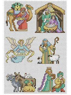 Image result for THE HOLY FAMILY IN CROSS STITCH