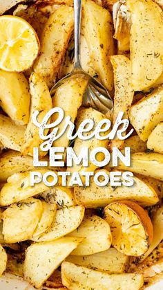 Lemon Roasted Potatoes, Greek Lemon Potatoes, Supper Recipes, Side Dish Recipes, Side Dishes, Yummy Recipes, Sweet Potato Dishes, Slimming World Recipes, Mediterranean Recipes