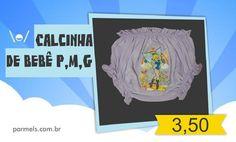 Calcinha de bebê nos tamanhos P,M e G por R$ 3,50