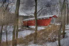 Everett Covered Bridge is the only remaining covered bridge in Summit County. Built in the 19th-century, it played an important role in the transportation system for the Ohio & Erie Canal. It crosses Furnace Run at Everett Road in Peninsula within the Cuyahoga Valley National Park