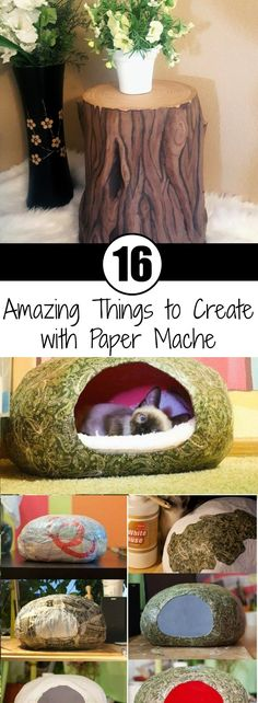 When you think of paper mache, you think of kids' crafts. However, paper mache is so much more. So today mache 16 Amazing Things to Create with Paper Mache Paper Mache Diy, Paper Mache Projects, Paper Mache Sculpture, Diy Paper, Paper Mache Pinata, Paper Mache Boxes, Cardboard Box Crafts, Paper Crafts For Kids, Crafts To Do