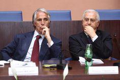 Giovanni Malagò - Presidente Coni con Roberto Fabbricini - Segretario Generale Coni