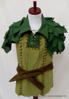 Peter Pan Custom Leafy Park Version Costume & Hat by Bbeauty79