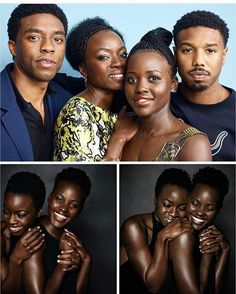 ♡The Cast of Marvel's #BlackPanther movie attended Comic-Com over the weekend.