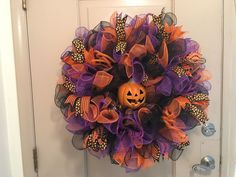 Wreaths 16498: 28 Halloween Jack-O-Lantern Deco Mesh Wreath Wreath S And More By Terri -> BUY IT NOW ONLY: $45 on eBay!