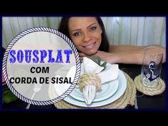 DIY/ SOUSPLAT DE CORDA/ DIA DAS  MÃES/LETICIA ARTES