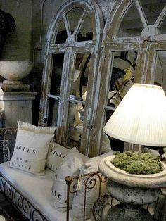 I also love all weathered, grey, French antiques.