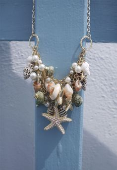 Conch Starfish Pearl Necklace - I really like this!