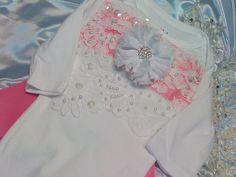 Newborn Girls One piece Body suit Pink Coming by NanaJustbananas, $35.00