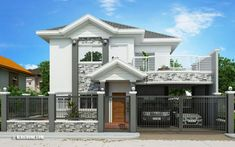 This fascinating Romualdo – elegant Filipino expression of contemporary house celebrates beautiful architectural details, unique angles and fresh look. Modern Bungalow House Design, Simple House Design, Bungalow Designs, One Storey House, Single Storey House Plans, Filipino House, Two Story House Design, Traditional House Plans, House Blueprints