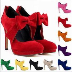 Bow Knot Design High Heels Fashion ..