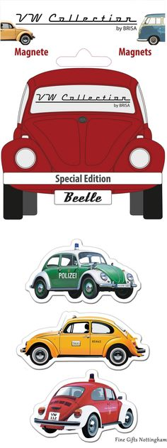 VW Beetle Magnet Special Edition Set - VW Collection by Brisa - Official Volkswagen Magnets BEMT03 #VWBeetleMagnetsSpecialEditionSet #VWCollectionByBrisa #FineGiftsNottingham
