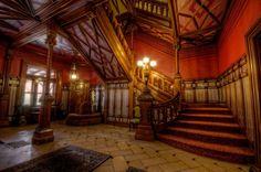 Stair hall. Mark Twain's House in Hartford, CT. Photos by Frank C. Grace