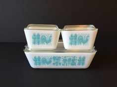 Vintage Amish Butterprint Pyrex Dishes, Refrigerator Dishes, SpaceSaver Dishes, Cookware Pyrex, Collectable Pyrex, Mid Century Dishes by GirlGoesVintage on Etsy