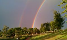 Double rainbow in Adelaide :) Somewhere Over, Over The Rainbow, Rainbows, Natural Beauty, Golf Courses, Nature, Rainbow, The Great Outdoors, Mother Nature