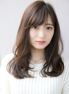 30代40代おすすめ 大人レイヤーパーマ(髪型セミロング) Long Bangs, Ombre Hair Color, Perm, Her Style, Medium Hair Styles, Hair Cuts, Hair Beauty, Model, Hair Ideas
