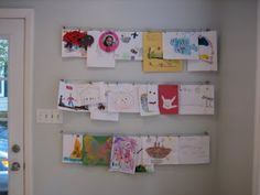 Hang Kids Artwork using IKEA Deka system that must be hacked to work