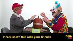 This Creepy Clown & Donald Trump Are Exploding A Pumpkin One Rubber Band At A Time