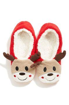 Capelli of New York 'Reindeer' Cozy Slipper Socks Fuzzy Slippers, Slipper Socks, Before Christmas, Christmas Fun, Christmas Ornaments, Reindeer Face, Tablet Cover, Holiday Festival, Jingle Bells