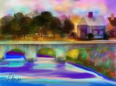 English Village   Artist  Frank Bright   Medium  Digital Art - Ipad Painting  #digitalpainting #frankbright