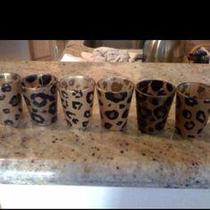 Leopard shot glasses