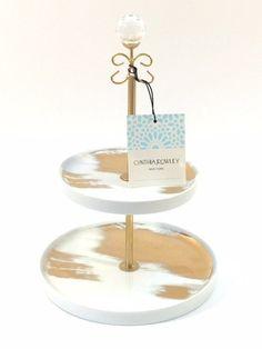 Two tier jewelry stand by Cynthia Rowley #jewelry #gift #giftforher #jewelrybox