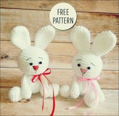 Are you looking for free cute amigurumi bunny pattern? Crochet with Amigurumi Today! Here you can discover lots of amigurumi bunny ideas and crochet bunny patterns suited to every fancy! Crochet Bunny Pattern, Crochet Animal Patterns, Crochet Bear, Stuffed Animal Patterns, Crochet Patterns Amigurumi, Cute Crochet, Crochet Animals, Crochet Dolls, Amigurumi Minta