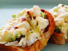 Love crab? This crab melt is usually served open-faced with buttered bread and a spread of moist crab salad topped with melted cheese.