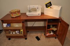 Beau Amazon.com   Sauder Sewing Craft Table   American Cherry