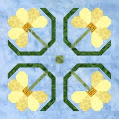 """pam bono, 2013 mystery bom, Block Six, Dandelion and is 15 1/2"""" square including seam allowance. The entire quilt, when completed measures 87"""" x 107"""""""