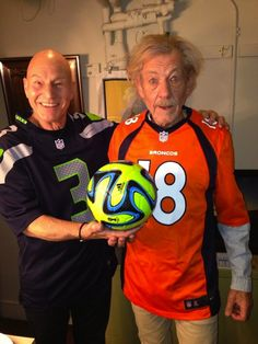 """Patrick Stewart And Ian McKellen Are Totally Ready For The Super Bowl"" Yet another reason to love these guys!"