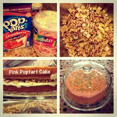 Pink poptart cake. Every two year olds dream!!! Easy, delicious & unique.