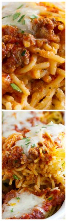 Spaghetti Lasagna ~ Love lasagna, but love the ease of spaghetti even more? You'll go crazy for this Spaghetti Lasagna - the perfect comfort food for a cold night! Pasta Recipes, Beef Recipes, Dinner Recipes, Cooking Recipes, Spagetti Lasagna, Italian Dishes, Italian Recipes, Kitchen Aid Pasta Recipe, Spagetti Recipe