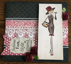 dbcraftgirls.blogspot.com  Great card! Stamping Bella stamp and Lost & Found paper. Card Challenge