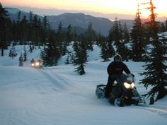snowmobiling   up the backcountry