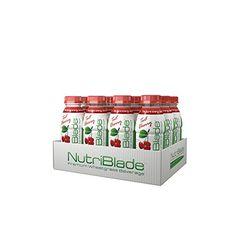 nutriblade Organic Wheatgrass Beverage: Tart Cherry - Five Shots of Wheatgrass per Bottle: Certified Organic by USDA, Great Taste, Convenient, Superfood Nutrition -