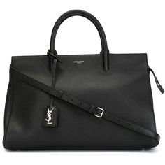 Saint Laurent medium 'Rive Gauche' tote (3,059,905 KRW) ❤ liked on Polyvore featuring bags, handbags, tote bags, black, saint laurent rive gauche shoulder bag, yves saint-laurent tote, leather handbags, zip top tote, leather purse et genuine leather tote