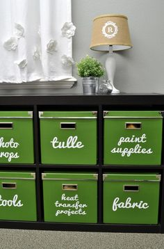 Organization, Labeling with Vinyl, Silhouette Cameo