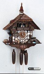 Chalet Cuckoo Clocks Cuckoo Clock 8-day-movement Chalet-Style 60cm by Anton Schneider