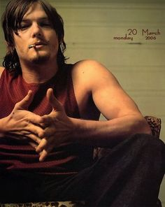 White trash chic works for me! | The 23 Sexiest Pictures Of A Young Norman Reedus