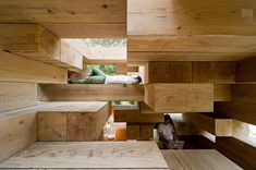 Wooden House by Sou Fujimoto. Follow the link to see more photos and drawings.