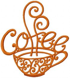 Vintage coffee free embroidery design #Vintagecoffee #freeembroidery #design #kitchen #drink #embroideres