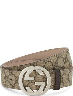 GUCCI GG Supreme belt Wide Leather Belt, Leather Belts, Men's Belts, Gucci Supreme Belt, Mens Gucci Belt, Luxury Belts, Gucci Brand, Designer Belts, Moda Masculina
