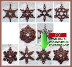 Beautiful snowflake ornaments pattern number 48-SLD324.