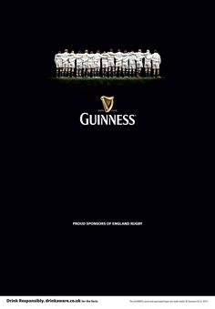 Anthem | Guinness England Rugby Clever Photography Advertising Poster | Award-winning Outdoor Advertising | D&AD