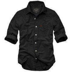 Abercrombie and Fitch Rocky Falls Black Men's Shirts